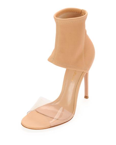 Napa Stretch Ankle-Band Sandal, Tan