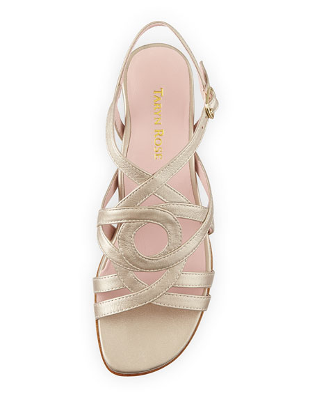 Oma Metallic Strappy Sandal, Soft Gold