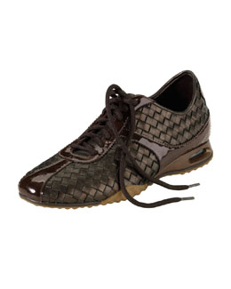 Cole Haan Air Bria Woven Leather Oxford, Dark Brown