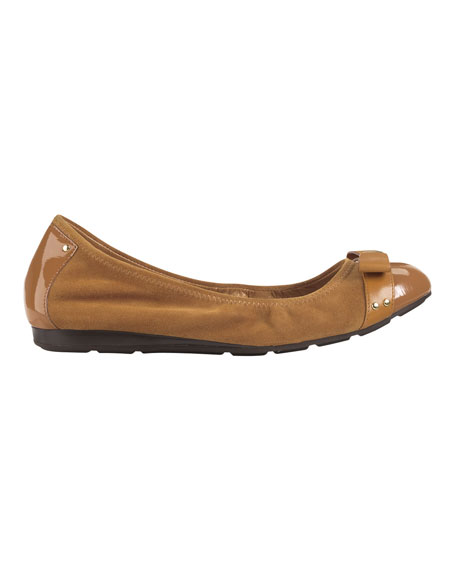 Air Monica Suede/Patent Ballerina Flat, Winery
