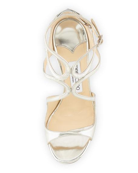 Lance Metallic Strappy Sandal, Silver