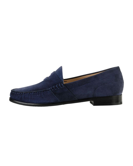 Laurel Suede Moc Loafer, Blazer Blue