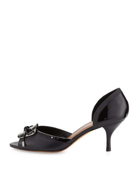 Frida d'Orsay Patent Pump, Black