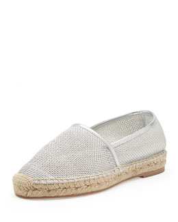 Stella McCartney Metallic Mesh Slip-On, Silver