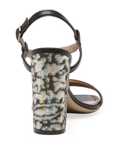 Metallic Jacquard Sandal, Multicolor