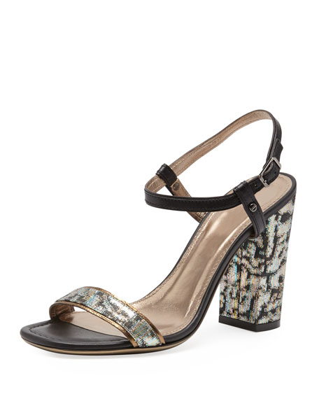 Metallic Jacquard Sandal, Multicolor