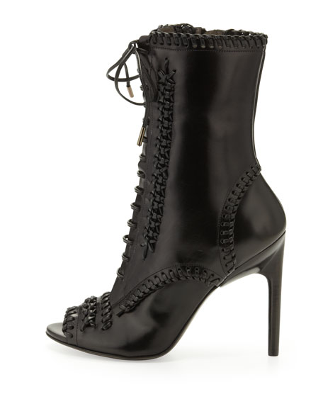 Lace-Up Whipstitch Boot