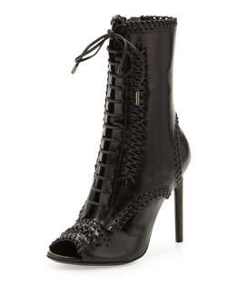 Jason Wu Lace-Up Whipstitch Boot