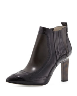 Jason Wu Buffed Leather Brogue Ankle Boot