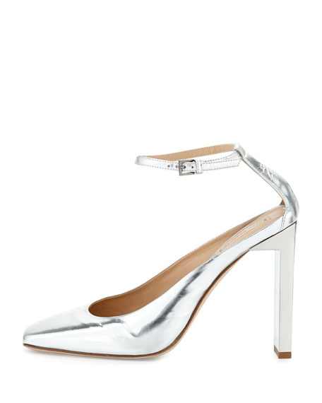 Atlas Metallic Slide-Heel Pump