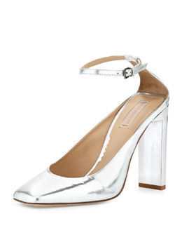 Reed Krakoff Atlas Metallic Slide-Heel Pump