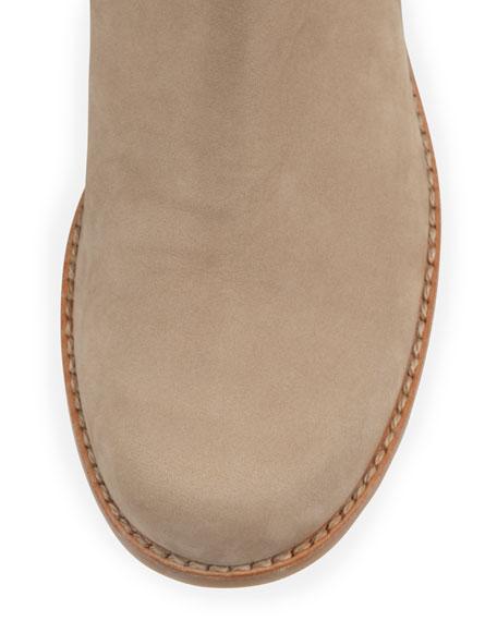 Stuart Weitzman 50/50 Wide Nubuck To-the-Knee Boot, Tan