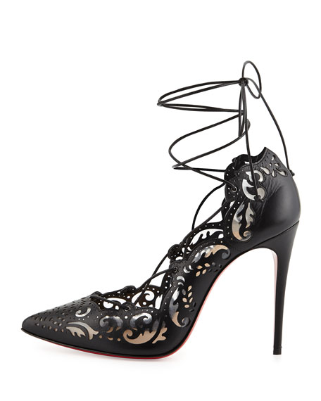 christian louboutin impera lace up