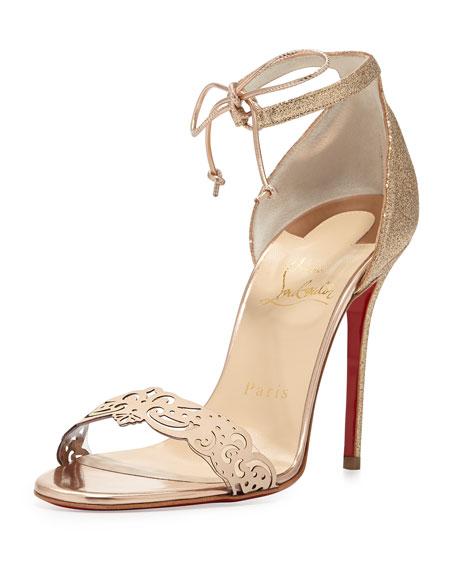 Valnina Glitter Red Sole Sandal, Poudre