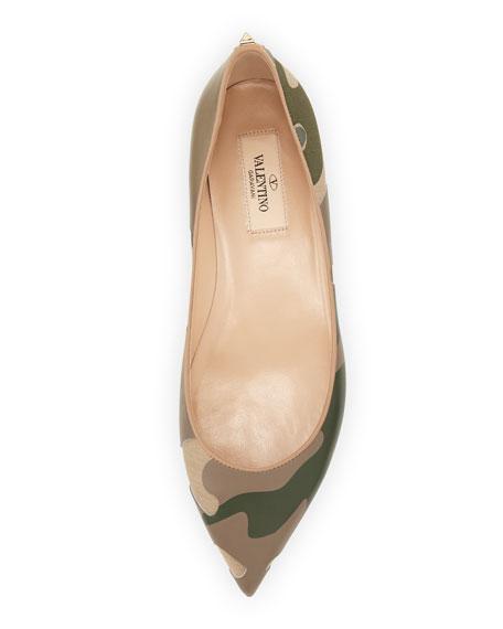Patchwork Camo Ballerina Flat, Safari