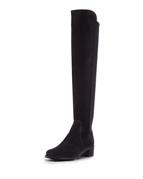 Stuart Weitzman Reserve Narrow Suede Stretch Over-the-Knee Boot,