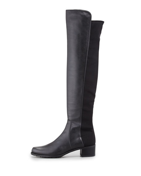 Reserve Narrow Napa Stretch Over-the-Knee Boot, Black