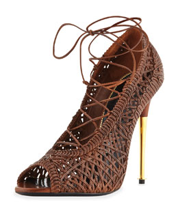 Tom Ford Napa LacesPump, Caramel