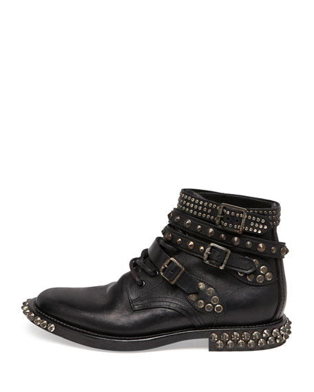 Rangers Studded Ankle Boot, Black