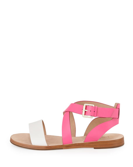 agnes two-tone strappy sandal, zinnia pink