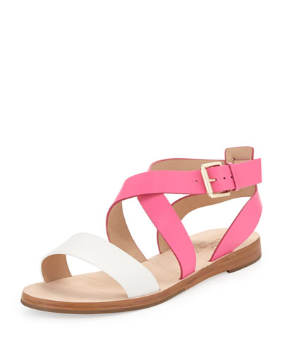 kate spade new york agnes two-tone strappy sandal, zinnia pink