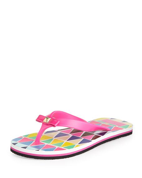 fiji rubber flip-flop, vivid snapdragon pink
