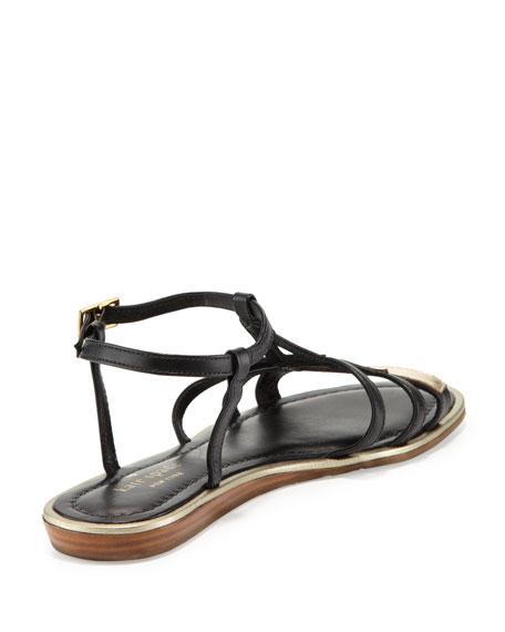 adon eiffel tower flat sandal