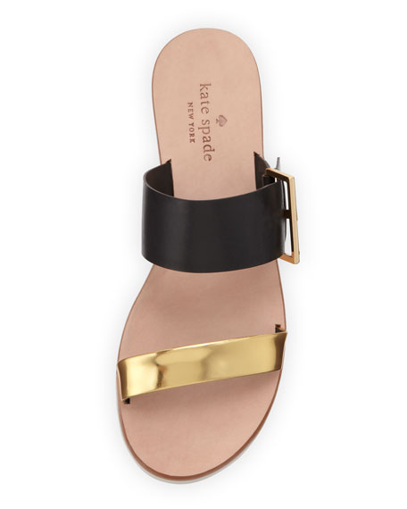 attitude double-strap sandal, black