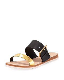 kate spade new york attitude double-strap sandal, black