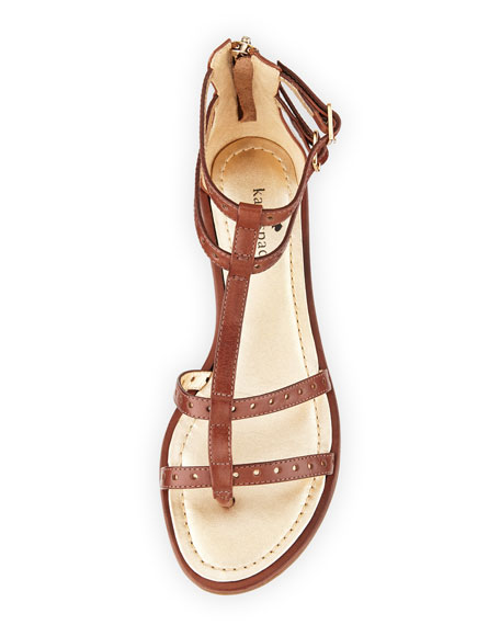 adagio leather gladiator sandal, luggage