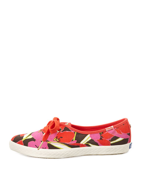 Keds Floral Canvas Pointer Sneaker, Bougainvillea