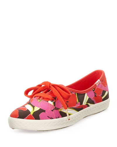 kate spade new york Keds Floral Canvas Pointer Sneaker, Bougainvillea