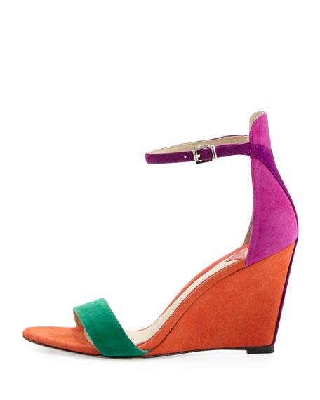 Sandal Roberta Orange Suede Wedge D9IYHWE2