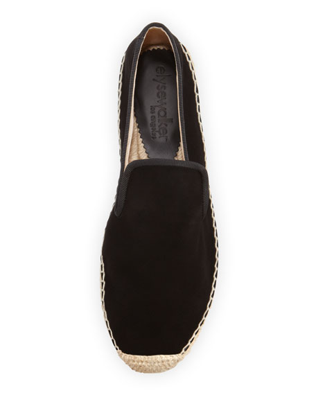 Dee Suede Espadrille Loafer, Black