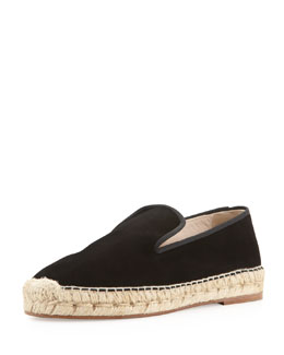 elysewalker los angeles Dee Suede Espadrille Loafer, Black