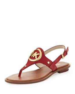 MICHAEL Michael Kors  Aubrey Logo Thong Sandal