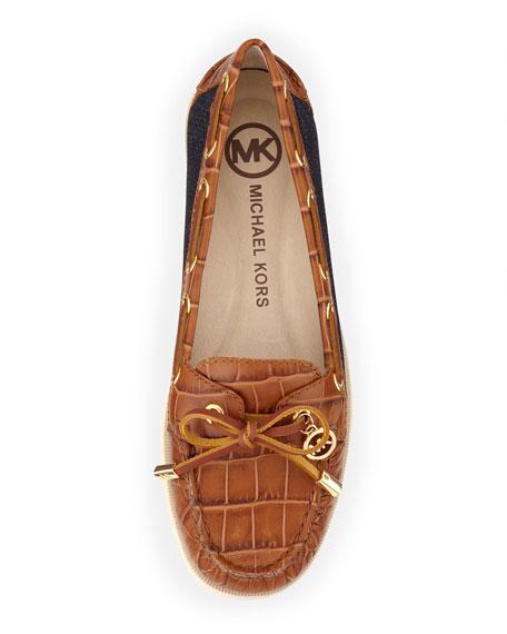 Blair Denim/Leather Moccasin