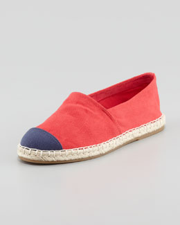 Pour la Victoire Bailey Flat Canvas Espadrille, Red