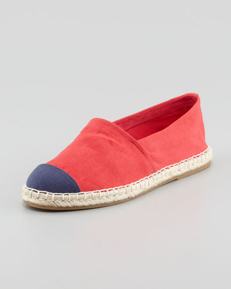 Bailey Flat Canvas Espadrille, Red