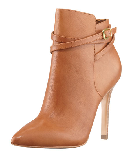 Candence Belted Ankle Boot, Cognac