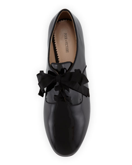 Carlin Lace-Up Dress Oxford, Black