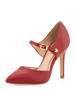 Pour la Victoire Cecilia Napa Mary Jane Pump, Red