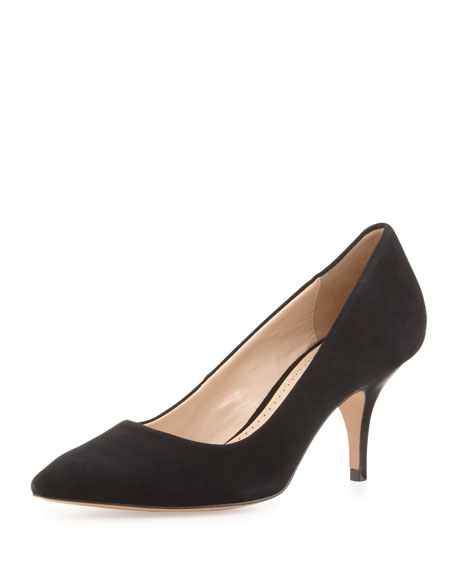 Isa Suede Dress Pump, Black