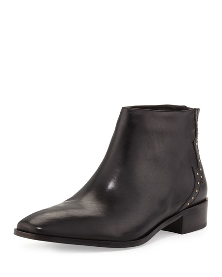 Janna Stud-Back Chelsea Boot, Black