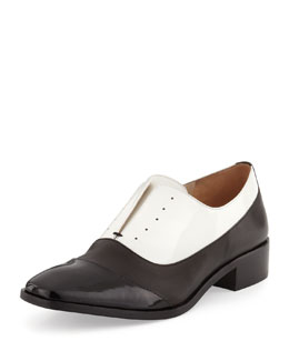 Pour la Victoire Jemmy Cap-Toe Oxford, Black/White