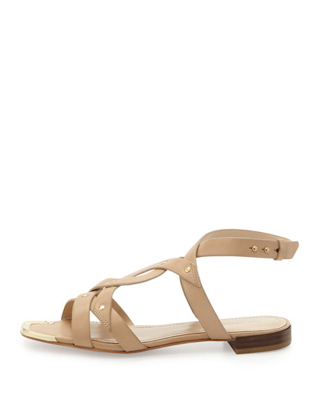 Crosscross Vachetta Leather Sandal, Tan