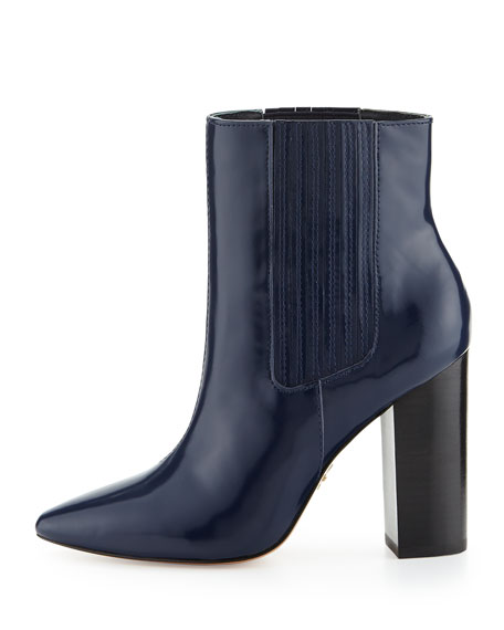 Lizette Pointy-Toe Dress Bootie, Navy