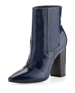 Pour la Victoire Lizette Pointy-Toe Dress Bootie, Navy