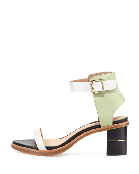 Colbie Colorblock City Sandal, Mint