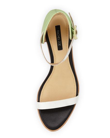 Colbie Colorblock City Sandal, Mint